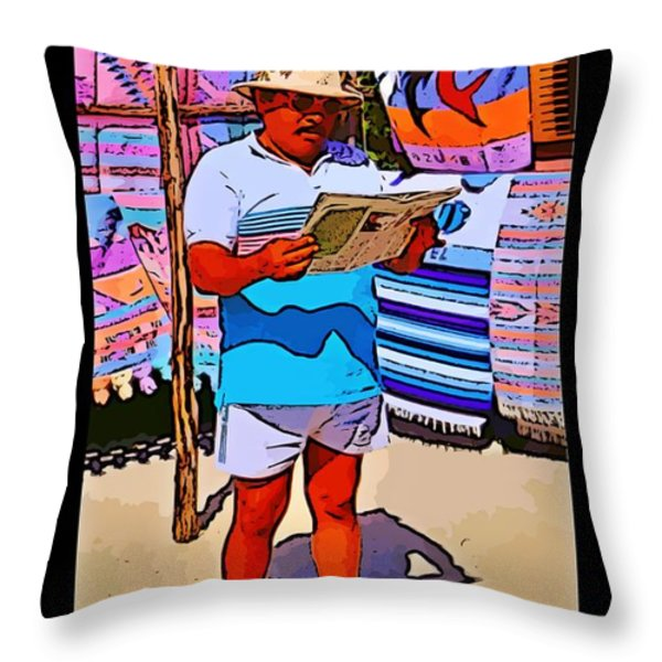 Iguana Man The Poster Throw Pillow by John Malone
