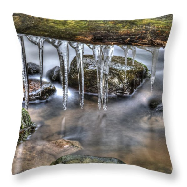 IIcicles Time Throw Pillow by Veikko Suikkanen