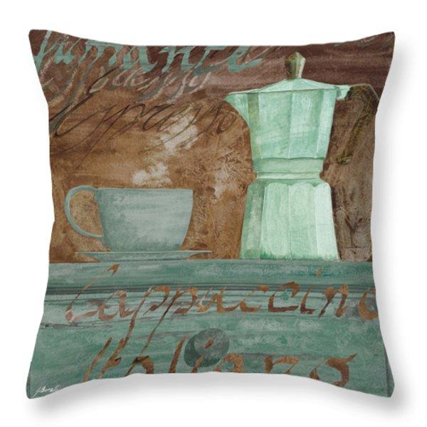 Il Cappuccino E La Moka Throw Pillow by Guido Borelli