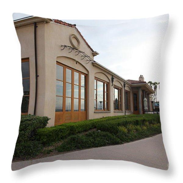 Il Fornaio Italian Restaurant In Coronado California 5D24362 Throw Pillow by Wingsdomain Art and Photography
