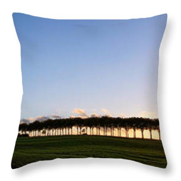 Ile de France Sunset Throw Pillow by Olivier Le Queinec