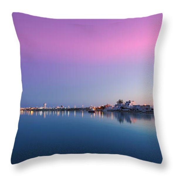 Ilha De Faro Throw Pillow by English Landscapes