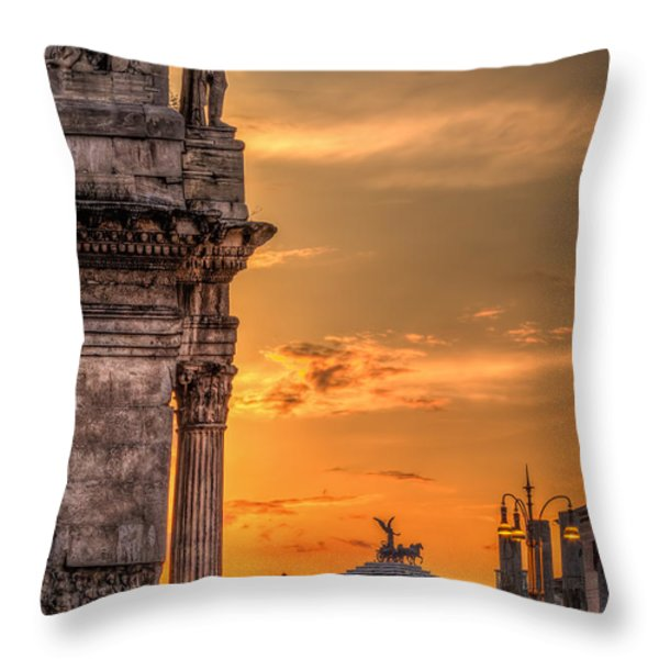 Illuminati Rome Throw Pillow by Erik Brede