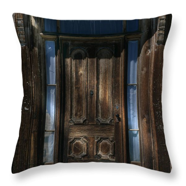 Illuminating The Past - Bodie Throw Pillow by Sandra Bronstein