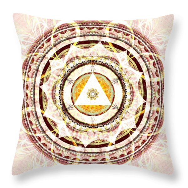 Illumination Circle Throw Pillow by Anastasiya Malakhova