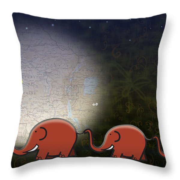 Illumination Throw Pillow by Sassan Filsoof
