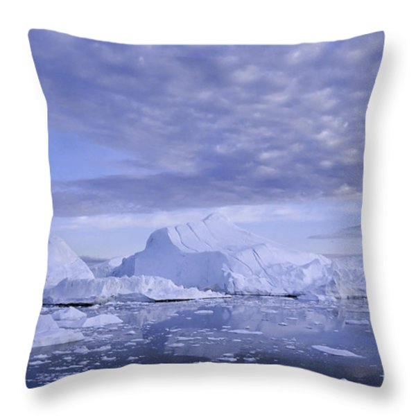 Ilulissat Icefjord Greenland Throw Pillow by Rudi Prott