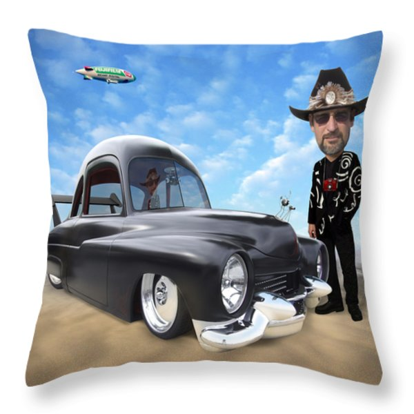 I'm Back . . . Throw Pillow by Mike McGlothlen