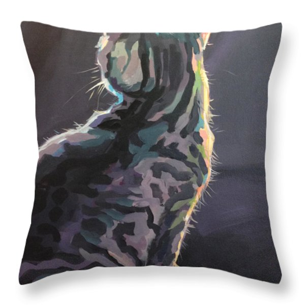I'm Not Listening Throw Pillow by Kimberly Santini