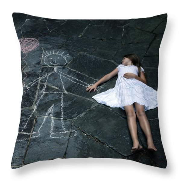 imaginary friend Throw Pillow by Joana Kruse