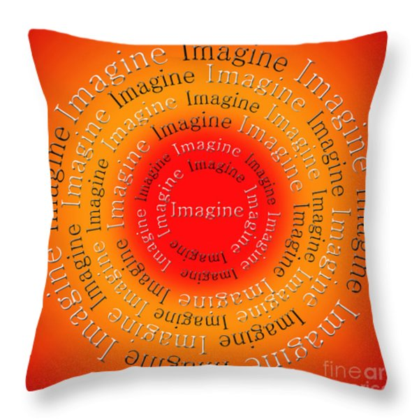 Imagine 5 Throw Pillow by Andee Design