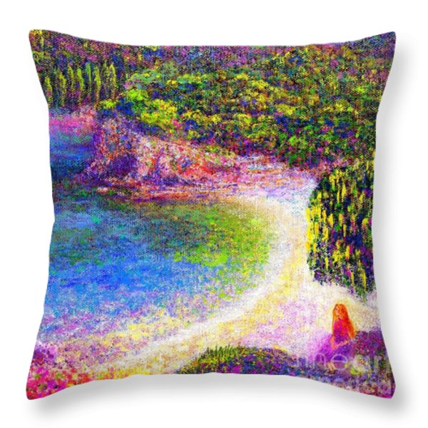 Imagine Throw Pillow by Jane Small