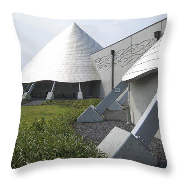 IMILOA ASTRONOMY CENTER - HILO HAWAII Throw Pillow by Daniel Hagerman