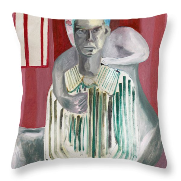 Impotent Throw Pillow by Anon Artist