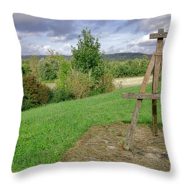 Impressionist Ready Throw Pillow by Olivier Le Queinec