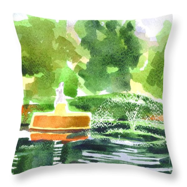Impressions II Throw Pillow by Kip DeVore