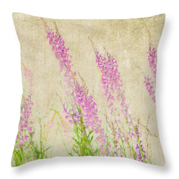 Impressions Of Spring Throw Pillow by Bonnie Bruno