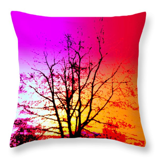 In A Bubble Throw Pillow by Hilde Widerberg