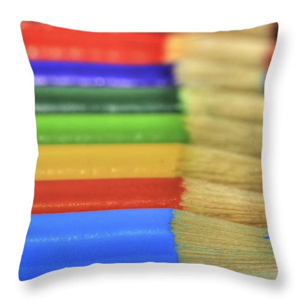 In A Row Throw Pillow by Tracy  Hall