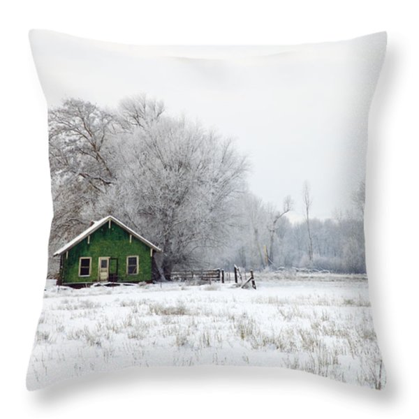 In a Sea of White Throw Pillow by Mike  Dawson