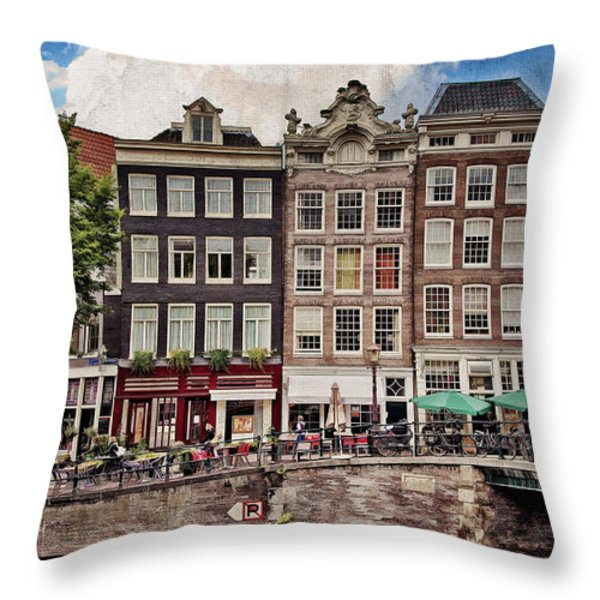 In Another Time And Place Throw Pillow by Joan Carroll