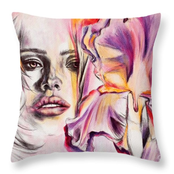 In Bloom Throw Pillow by Rebecca Glaze