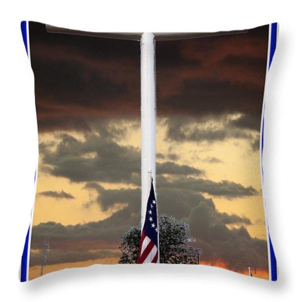 In God We Trust Throw Pillow by Ella Kaye Dickey