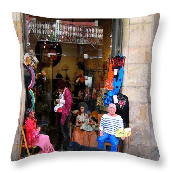 In Good Company Throw Pillow by Leena Pekkalainen