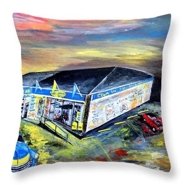 In Motion  Throw Pillow by Mark Moore