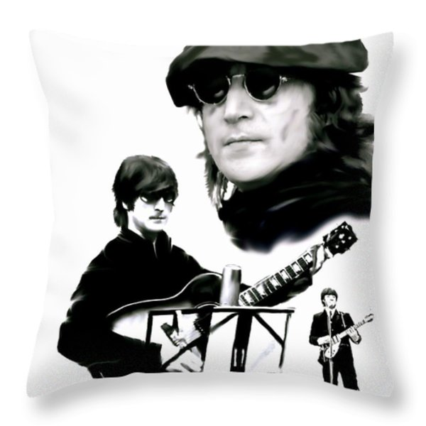 In My Life  John Lennon Throw Pillow by Iconic Images Art Gallery David Pucciarelli