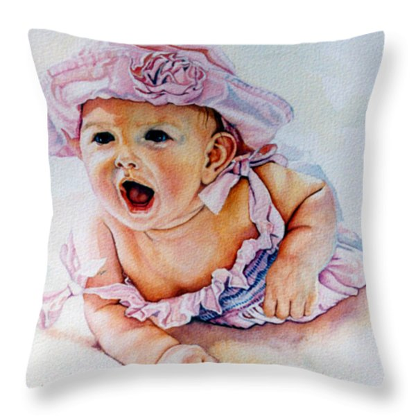 In My Opinion Throw Pillow by Hanne Lore Koehler