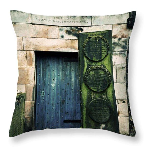 In Old Calton Cemetery Throw Pillow by RicardMN Photography