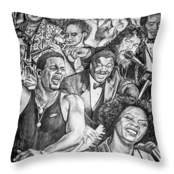 In Praise Of Jazz Throw Pillow by Steve Harrington