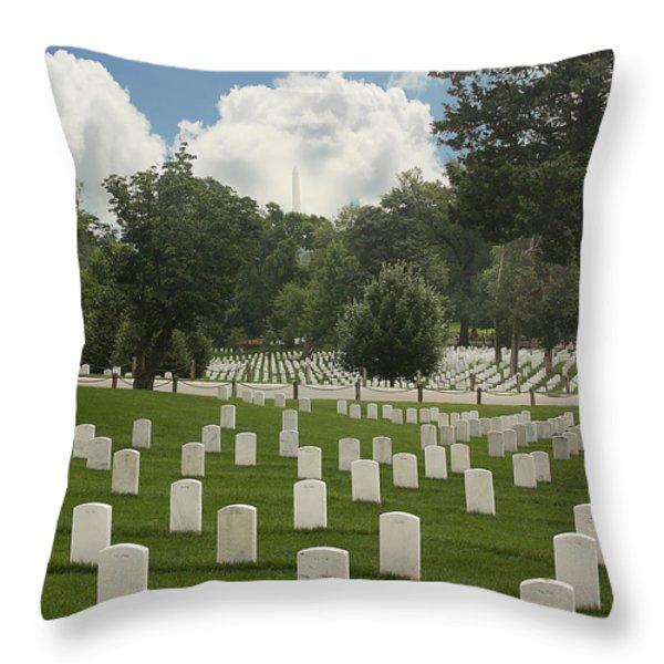 In Rememberance-arlington Throw Pillow by Kim Hojnacki