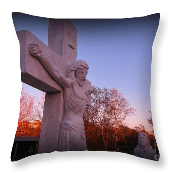 In Sacrifice Is Peace Throw Pillow by John Malone
