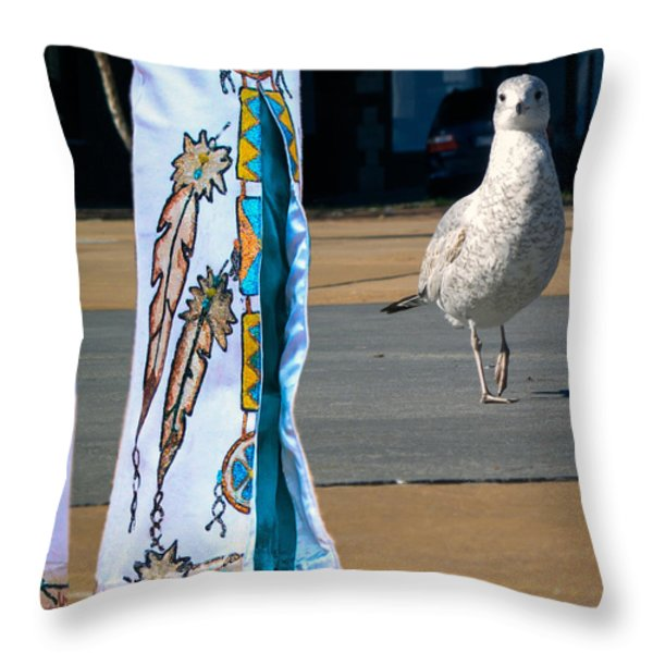 In Search Of Elvis Throw Pillow by Bob Orsillo