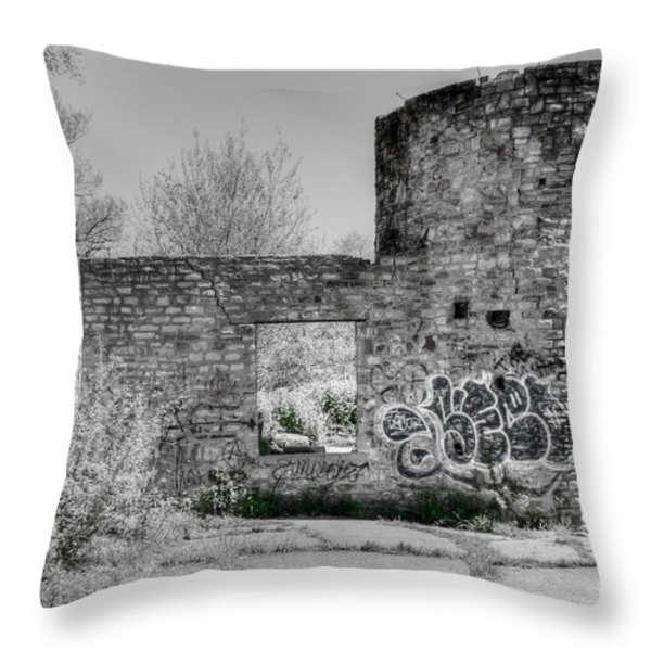 In Side The Boathouse Throw Pillow by Kathleen Struckle