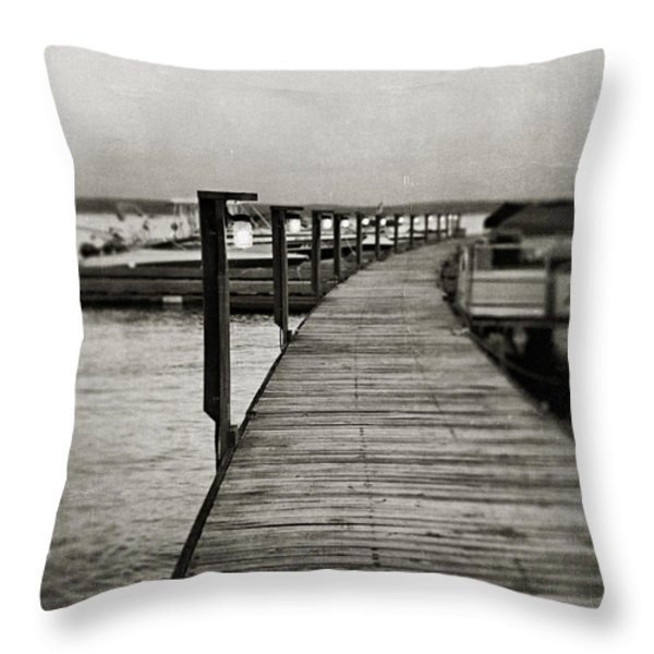 In Stillness Throw Pillow by Lisa Russo