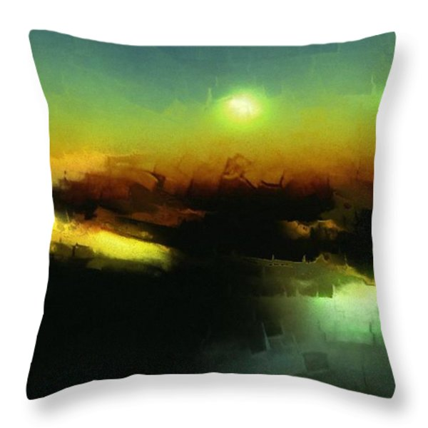 In The Afternoon Sun Throw Pillow by Gun Legler