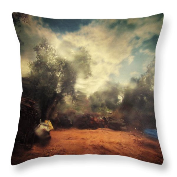 In the Begining Throw Pillow by Taylan Soyturk
