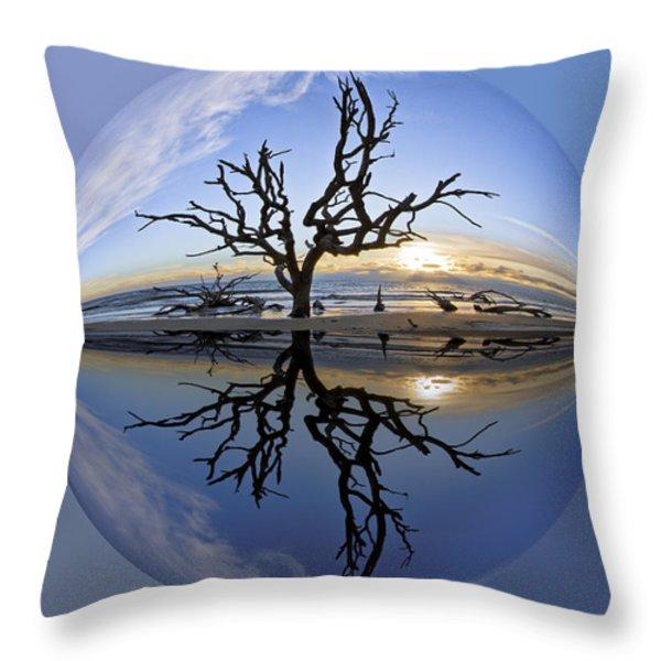 In The Beginning Throw Pillow by Debra and Dave Vanderlaan