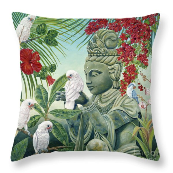 In the Company of Angels Throw Pillow by Danielle  Perry