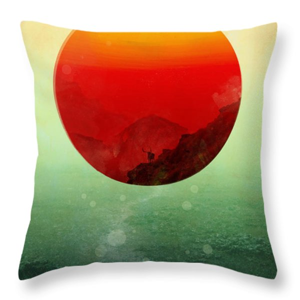 In The End The Sun Rises Throw Pillow by Budi Kwan