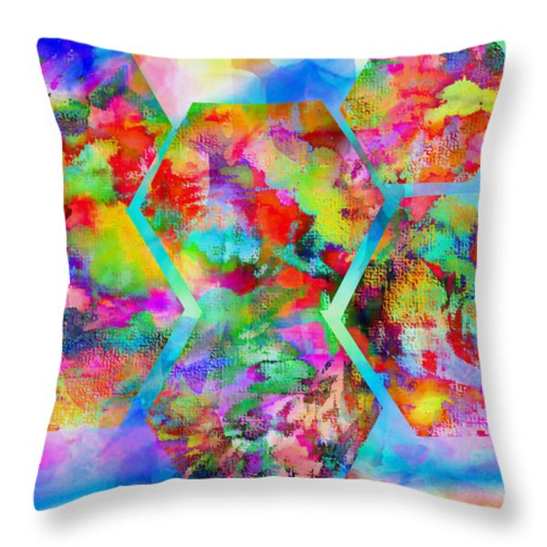 In The Flowers Throw Pillow by M and L Creations Art Craft Boutique