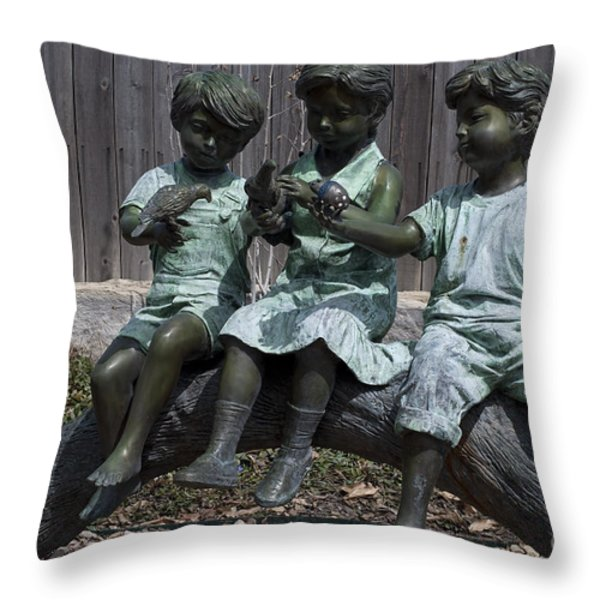 In The Garden Throw Pillow by Liane Wright