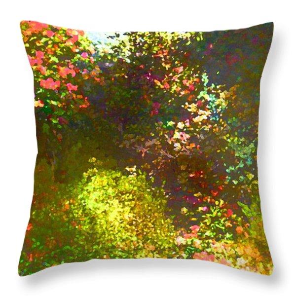 In the Garden Throw Pillow by Pamela Cooper