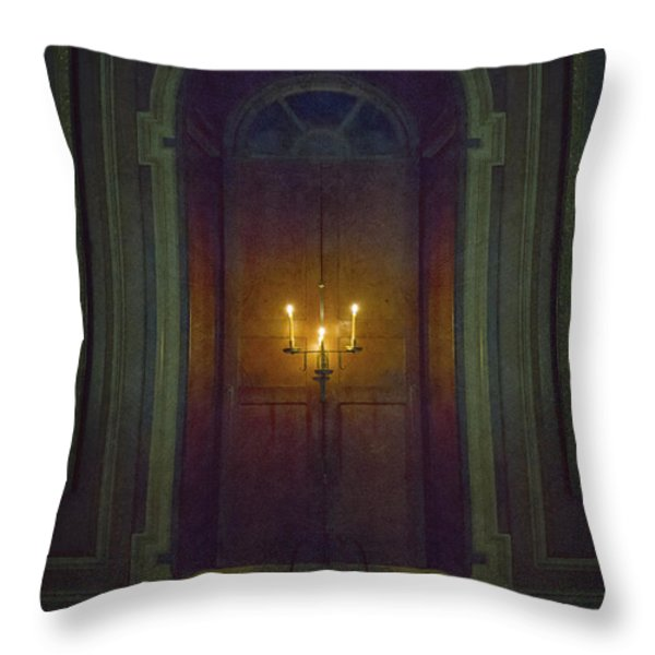 In The Great Hall Throw Pillow by Margie Hurwich