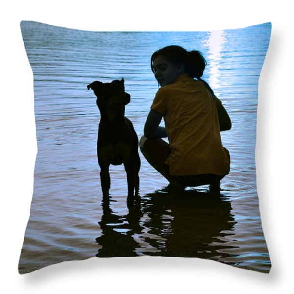 In The Moonlight Throw Pillow by Laura Fasulo
