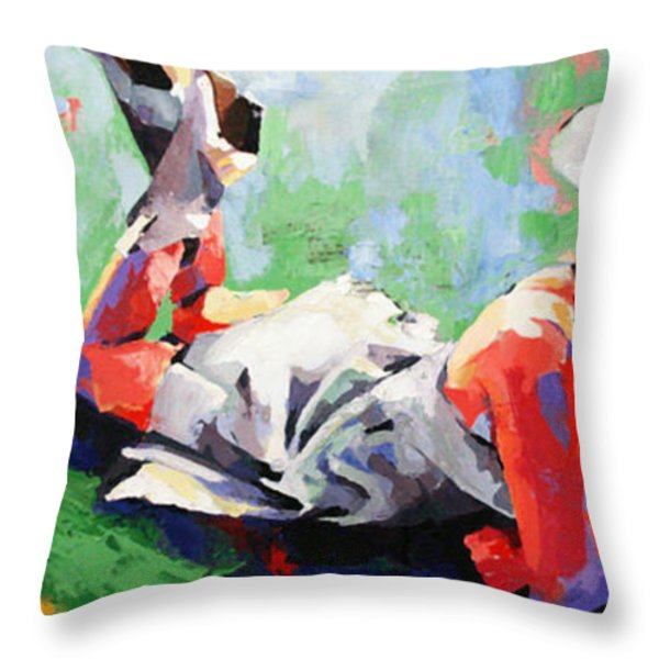 In The Pages Throw Pillow by Julia Pappas