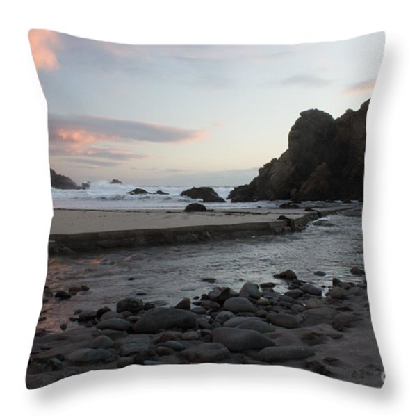 In The Pink Throw Pillow by Suzanne Luft